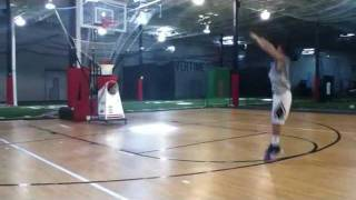 Young shooter works out on Gun Shooting Machine