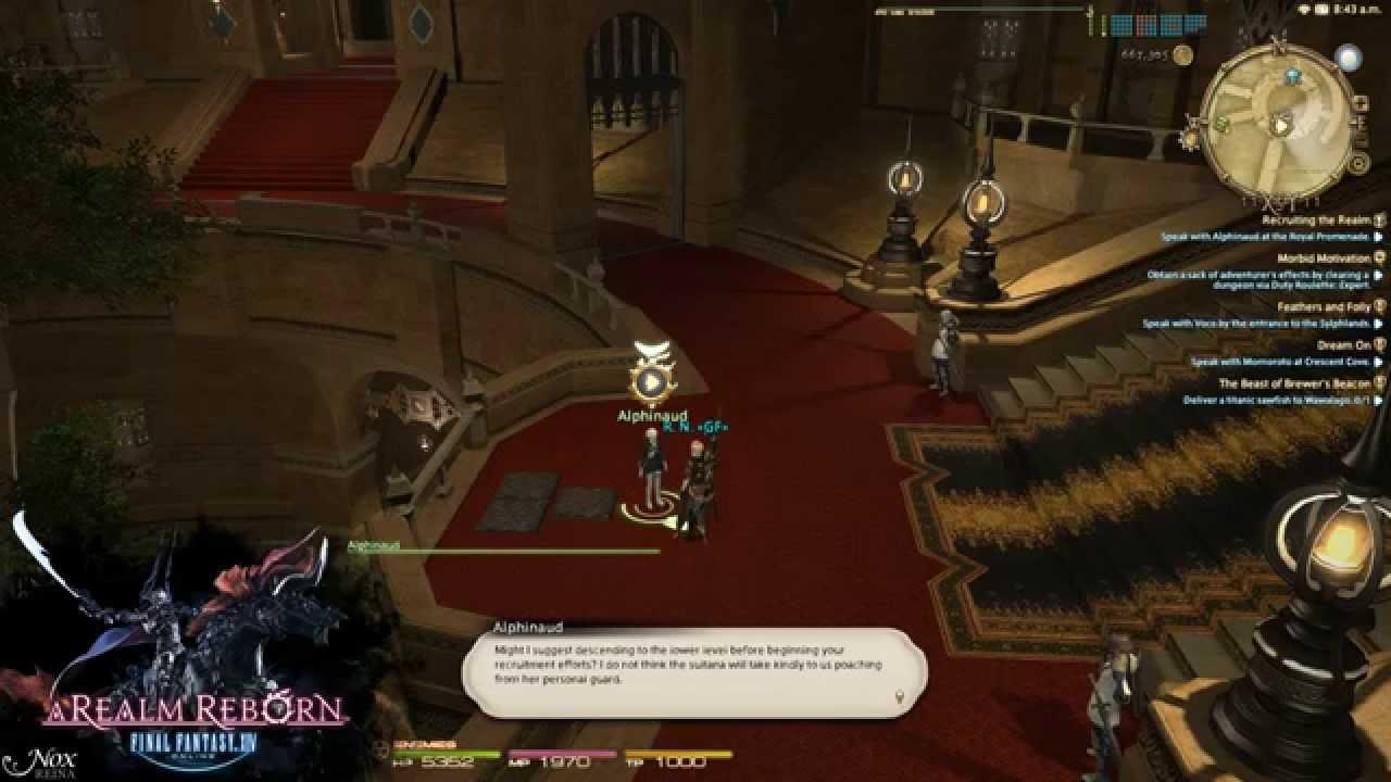 FFXIV ARR - Main Quest 2 Lv 50 - 54 Recruiting the Realm
