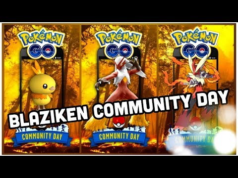 SHINY BLAZIKEN COMMUNITY DAY & MOVES FOR POKEMON GO | THINGS ARE STARTING TO HEAT UP! thumbnail