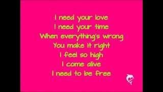 Ellie Goulding feat Calvin Harris- I Need Your Love (Lyrics)
