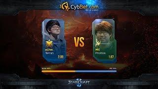 StarCraft 2 LotV Cybbet Race Wars 2016 Day 1 Match 2: aLive vs MC(Матч первого игрового дня турнира Cybbet Race Wars. Анонсы стримов: https://twitter.com/Alex007UA Партнер трансляции: http://cybbets.com/a..., 2016-01-21T21:51:19.000Z)