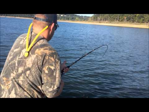October 2014 beaver lake striper fishing trip youtube for Beaver lake striper fishing