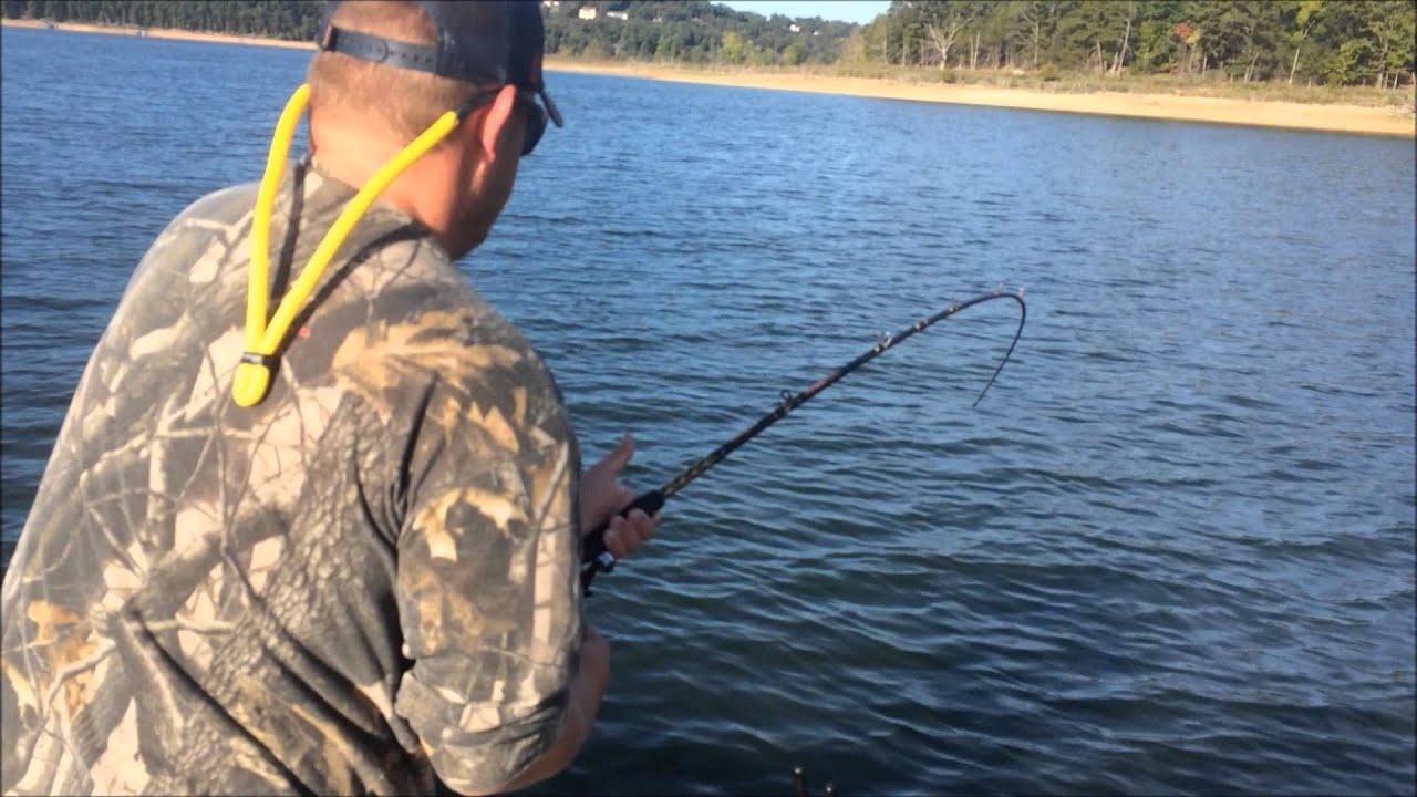 October 2014 beaver lake striper fishing trip youtube for Beaver lake arkansas fishing report
