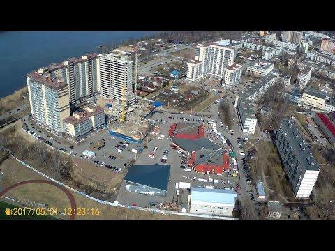 г. Кировск Ленинградской обл. Съемка с квадрокоптера (Старый город)