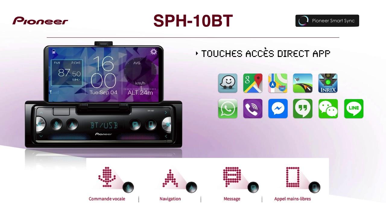 autoradio pioneer sph 10bt disponible sur youtube. Black Bedroom Furniture Sets. Home Design Ideas
