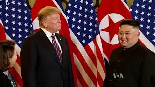Hanoi Summit: Trump Participates in a Greeting with Kim