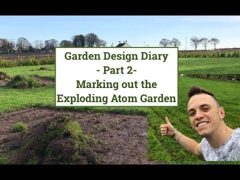 Garden Design Diary Part 2 Marking out the Exploding Atom Garden