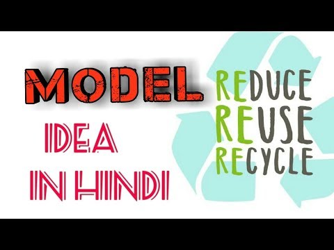 REDUCE/REUSE/RECYCLE....MODEL IN HINDI