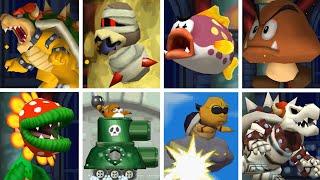 New Super Mario Bros. DS HD - All Bosses (No Damage)