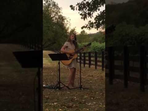 Eleven Year-old Lauren McKenzie Performs Cover Of 'Bright' By Echosmith At Wedding
