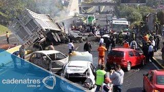 Reportan accidente en la México-Cuernavaca deja cuatro presuntos militares muertos