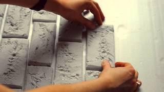 мастер-класс : кирпичная стена из пенопласта, фотофон | DIY brick wall of foam