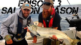 SEASON 3 EPISODE 3 - ASPEN CATCHES 2 FOR THE DERBY | WE CATCH AND COOK COHO WITH KIKABOO SHOP