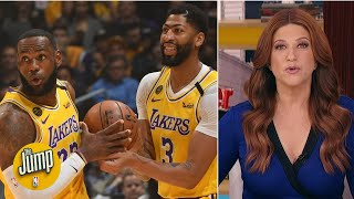 LeBron James and Anthony Davis boosted the Lakers' title chances - Rachel Nichols | The Jump