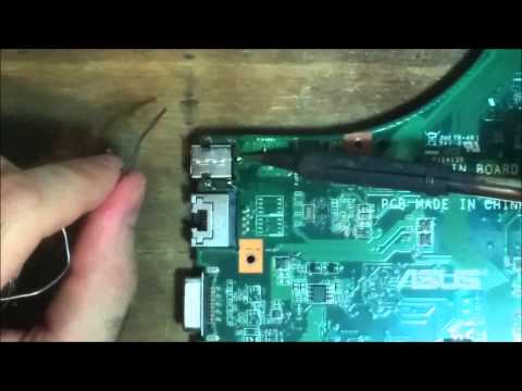 Repara conector de corriente DC Power Jack de ASUS X53S (REPARACIÓN CONECTOR, LIMPIEZA)