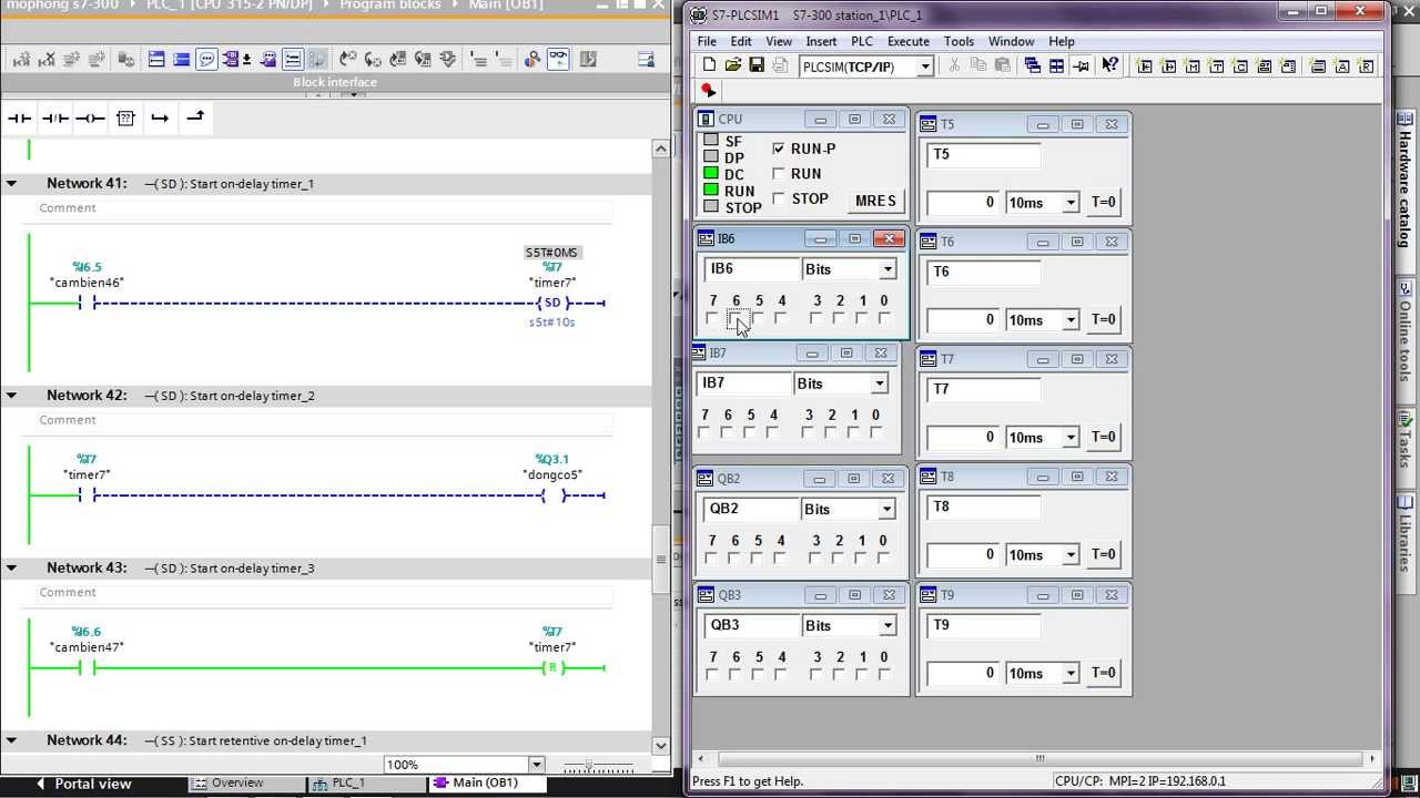 Simulation of SP, SE, SD, SS, SF TIMER in Tia Portal V12 ...