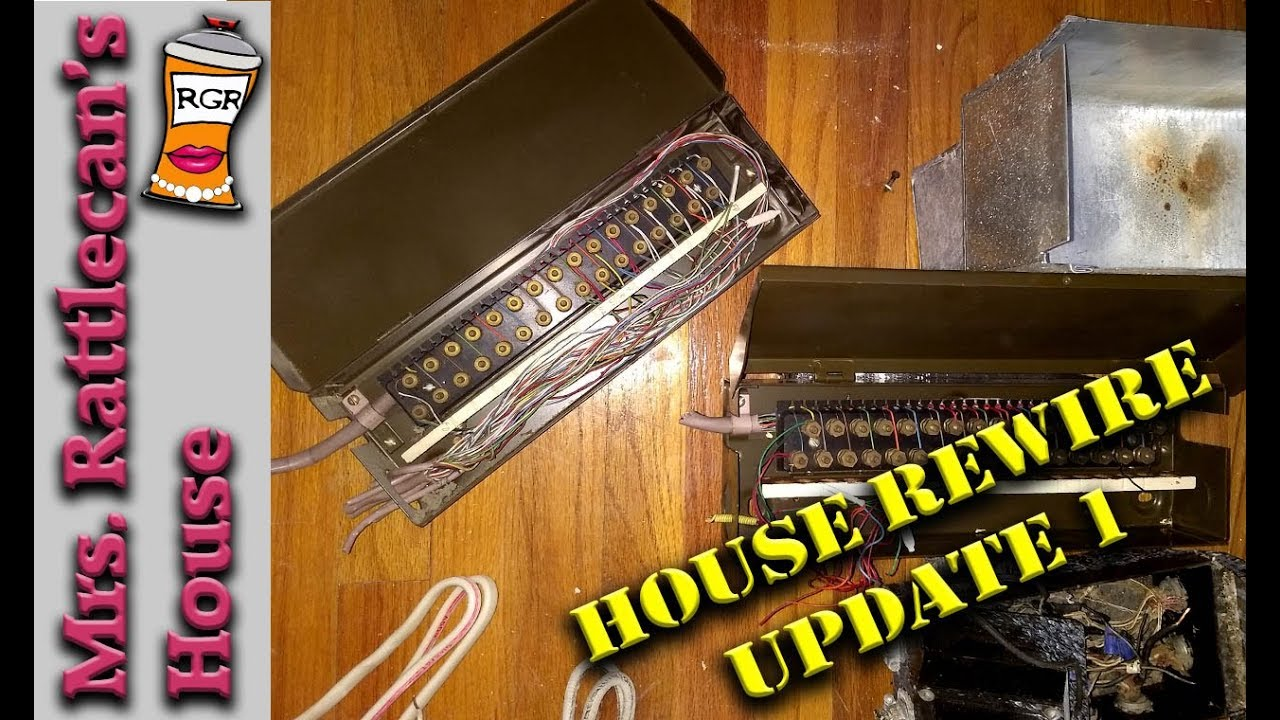 House rewire series- update 1 | MRS. RATTLECAN\'S HOUSE - YouTube