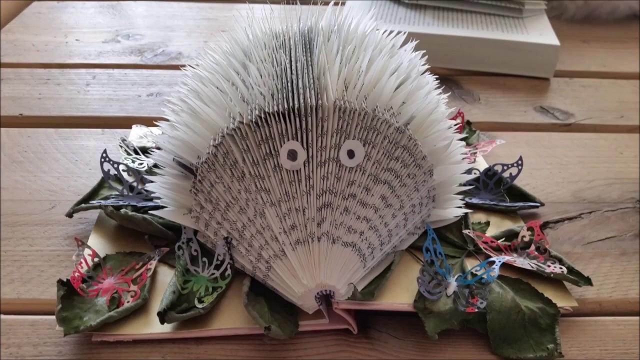 Wonderlijk Knutselen: Hoe vouw je een egel van een boek. Diy: Book folding QG-77