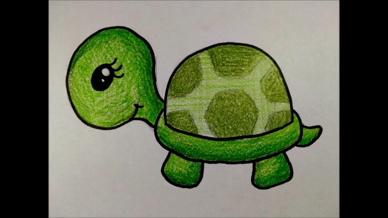 Como Desenhar Uma Tartaruga Fofa Desenhos Faceis Simples Youtube