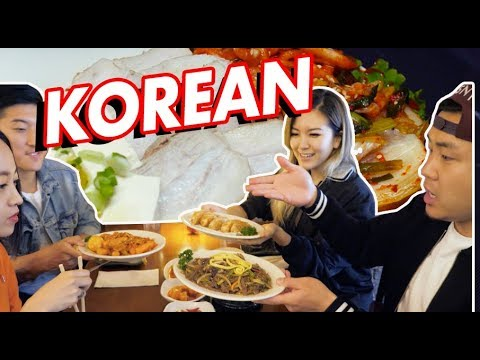 KOREAN FOOD YOU NEVER HAD BEFORE BEYOND KBBQ w/ KOREAN FRIENDS // Fung Bros