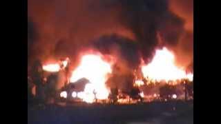 Waldo Canyon Fire -- Mountain Shadows Burning Part 1 - 06/26/2012