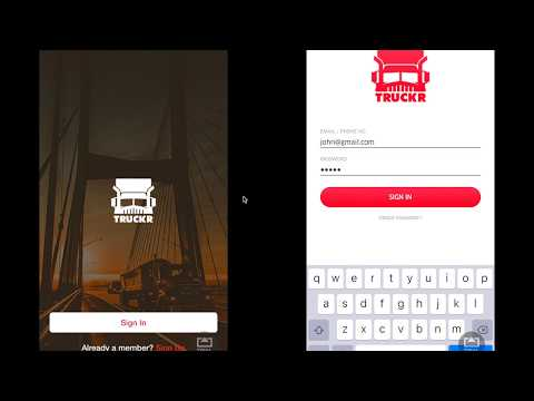 Truckr Demo Video - Live Booking on Customer & Trucker Apps