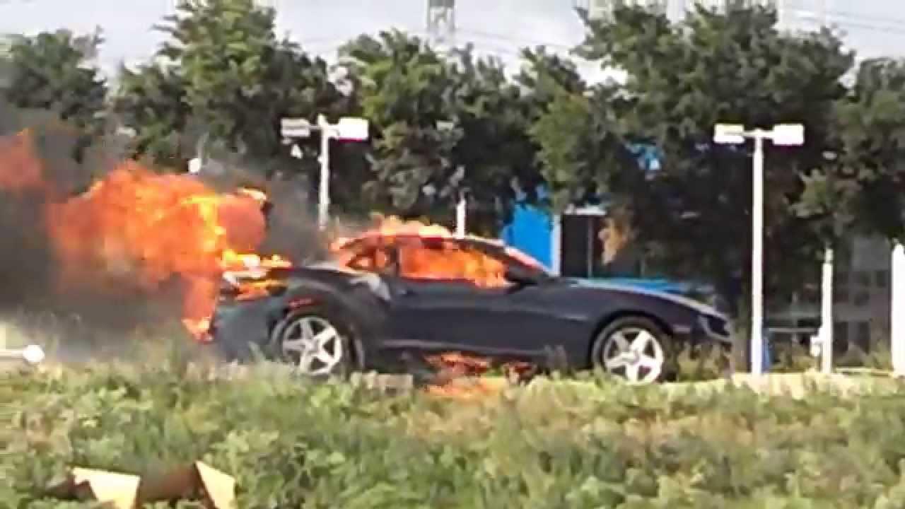 Chevy Camaro On Fire Dallas Youtube