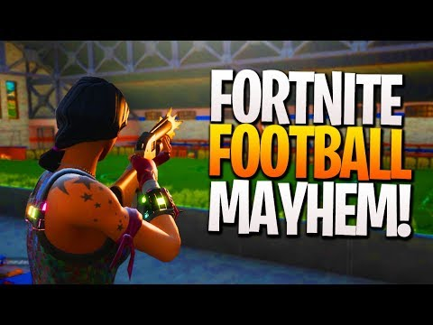 MAYHEM on the Fortnite Football Field! - Fortnite NEW MAP UPDATE! PS4 Fortnite Gameplay!