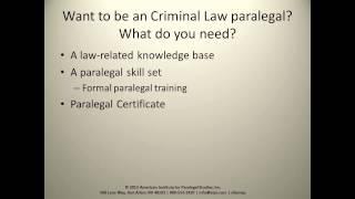 Criminal Law Paralegal