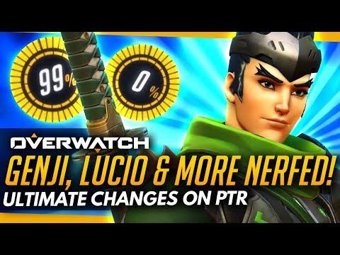 Overwatch | Genji Lucio & Others NERFED - HUGE Ultimate Changes