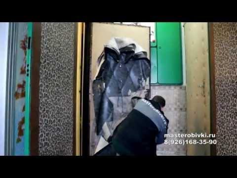 Как обшить металлическую дверь дермантином