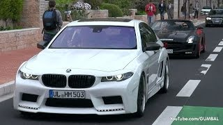 BMW Hamann Mi5Sion F10 M5 -  Wheel spin Accelerations in Monaco!