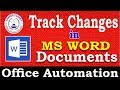 MS Word Tutorial: How to use Track Changes in Microsoft Word Documents | Learn MS Word