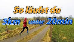 5km unter 20min laufen - So klappt es! I Training Tipps
