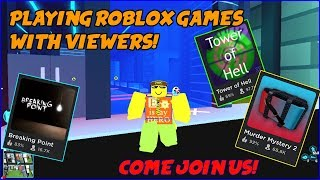 Playing Roblox Games with Viewers live! | Roblox Live Stream