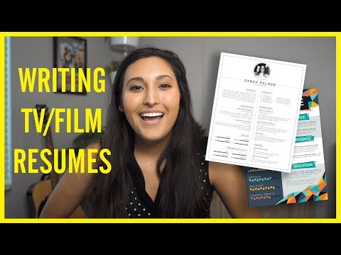 How To Write A Film/TV Production Resume