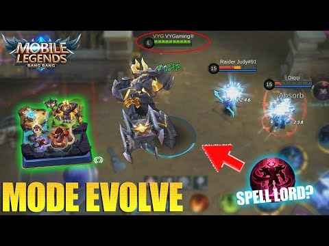 MODE EVOLVE - BISA PAKAI KARAKTER LORD , MINION DAN MONSTER JUNGLE !?! MOBILE LEGENDS
