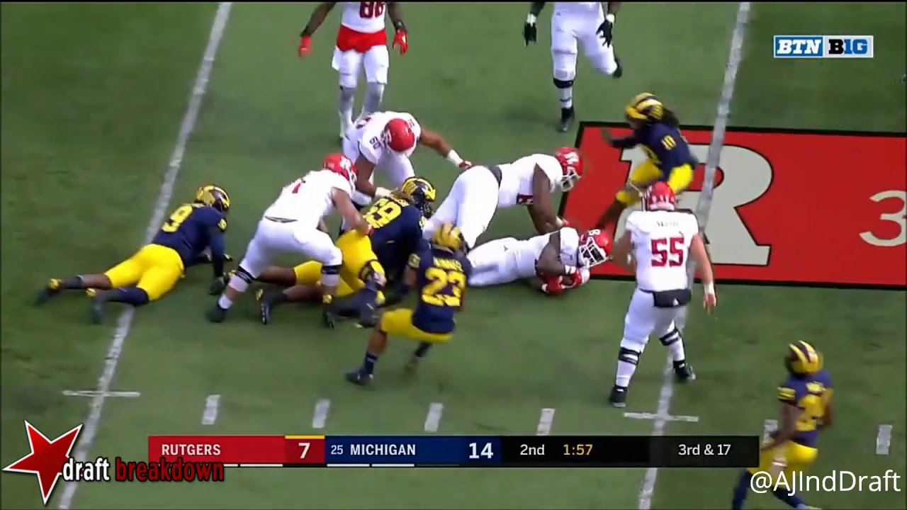 a6f6855fd Maurice Hurst (Michigan DT) vs Rutgers 2017 - YouTube