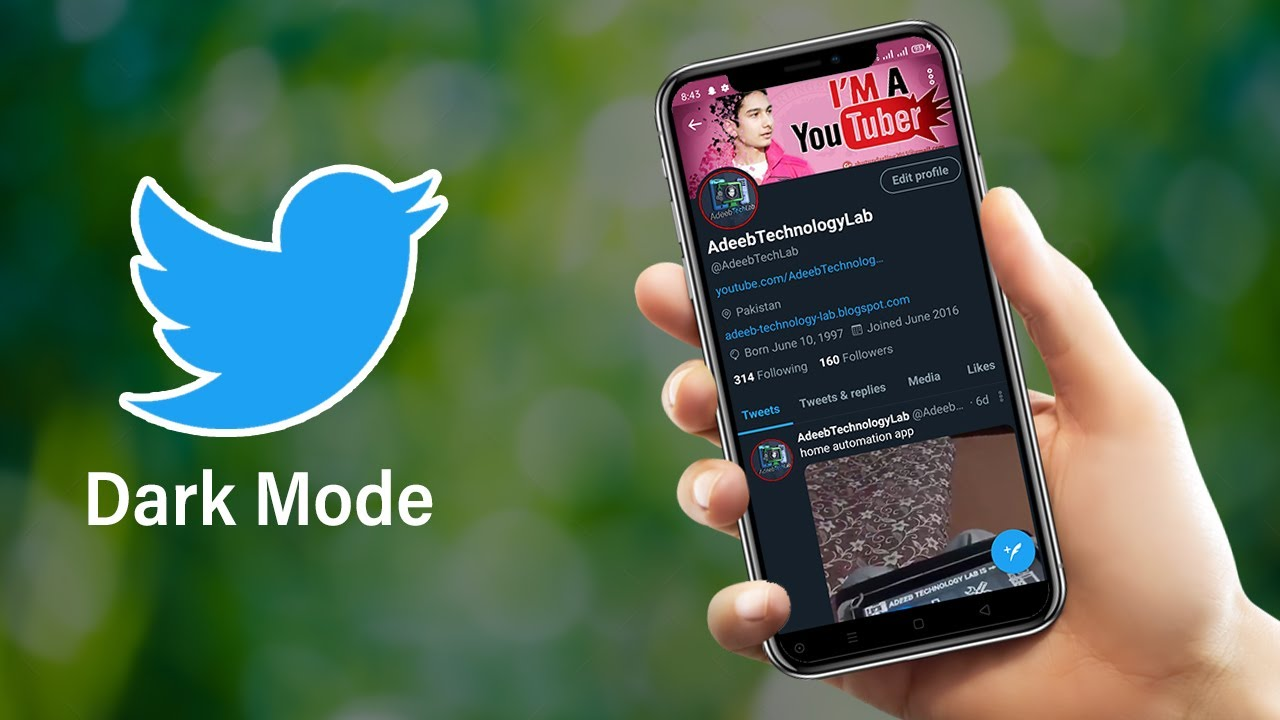 Tweet Dark Mode on Very Easy | Adeeb Technology Lab || Tweet |