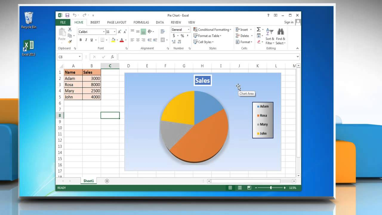 How to insert data labels to a pie chart in excel 2013 youtube nvjuhfo Image collections