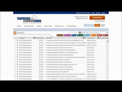 Miscellaneous Tariff Bill Data Video Introduction