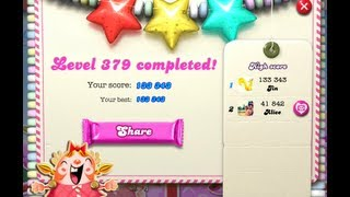 Candy Crush Saga Level 379 ★★★ NO BOOSTER