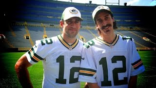 Aaron Rodgers meets Tom Wrigglesworth