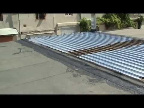 видео: Крыша для гаража из профнастила