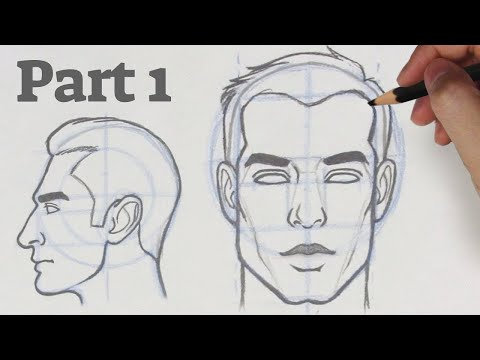how-to-draw-a-face-from-any-angle- -part-1---front-&-side-view