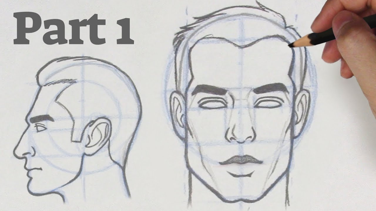 How to Draw a Face from any Angle | Part 1 - Front & Side ...