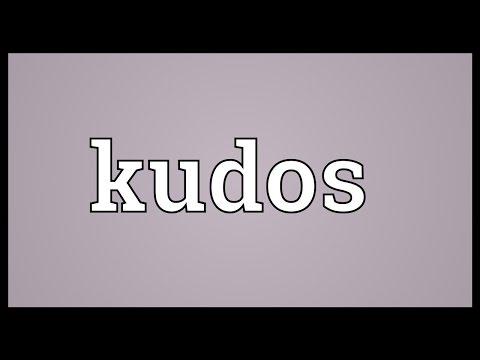 Kudos Meaning