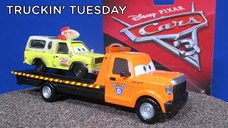 Truckin Tuesday! Stu Scattershields from Disney Cars 3 Flatbed Tow Truck