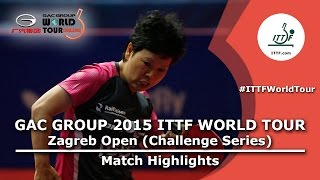 Zagreb Open 2015 Highlights: NI Xialian vs YOO Eunchong (R 16)