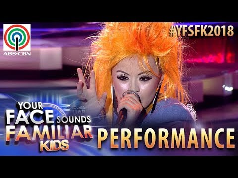 Your Face Sounds Familiar Kids 2018: Esang De Torres as Cyndi Lauper  True Colors